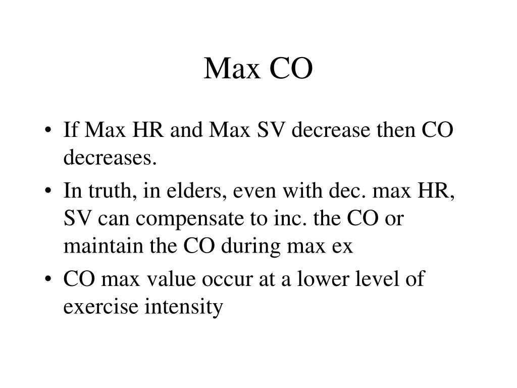 Max CO