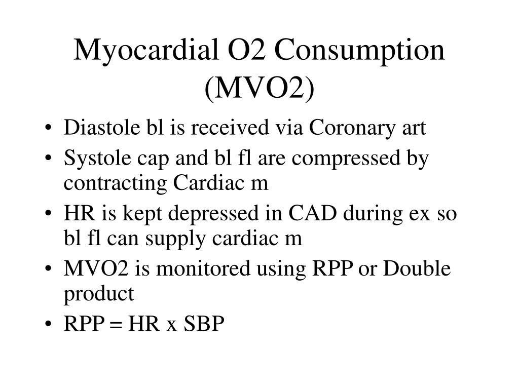 Myocardial O2 Consumption (MVO2)