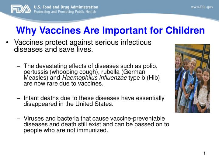 Why vaccines are important for children