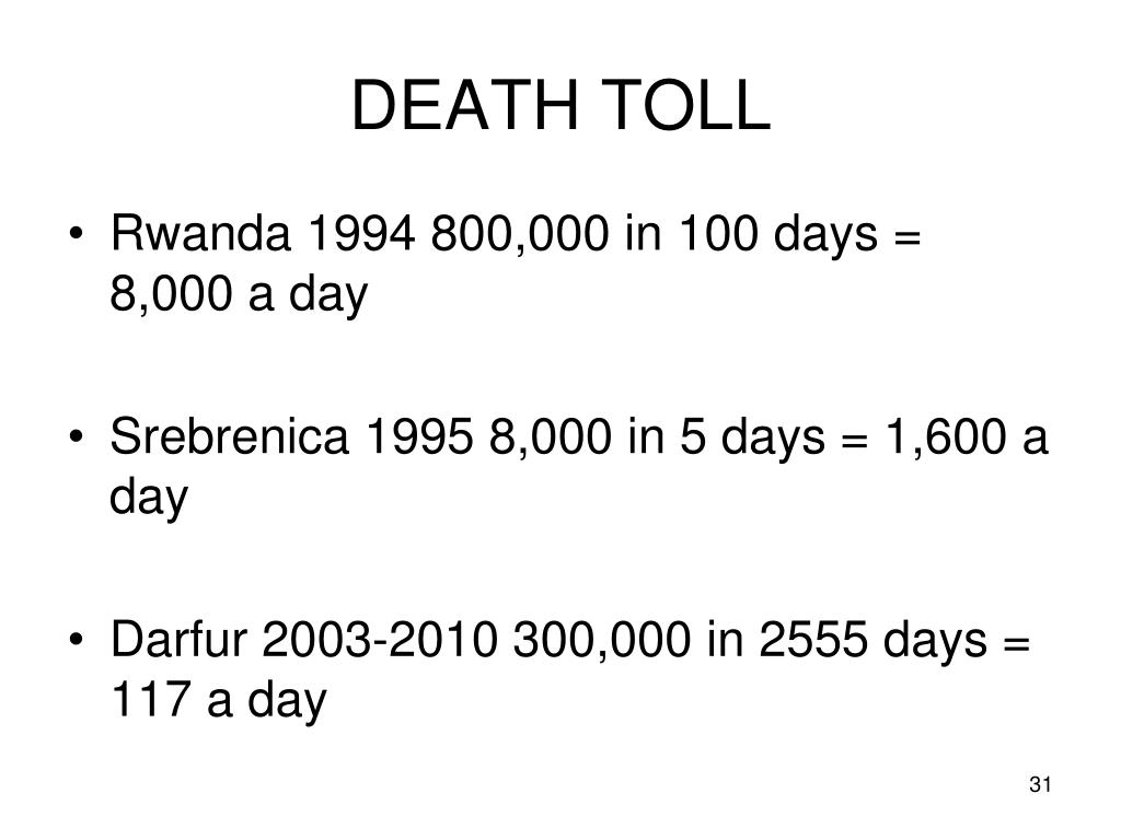 DEATH TOLL