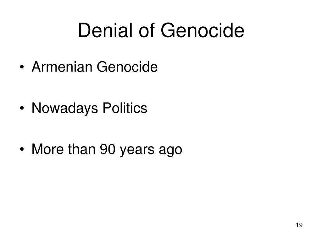 Denial of Genocide