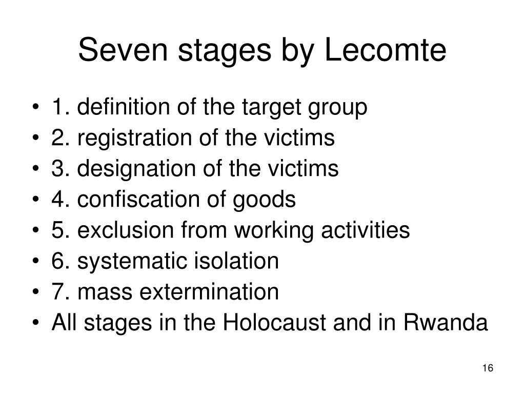 Seven stages by Lecomte