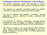 challenges to africa s participation in the ig space