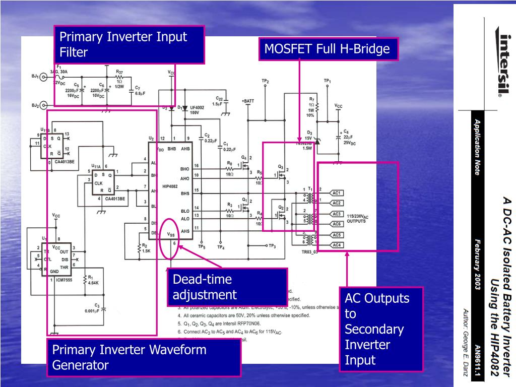 Primary Inverter Input Filter