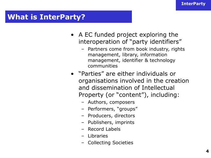 What is interparty3