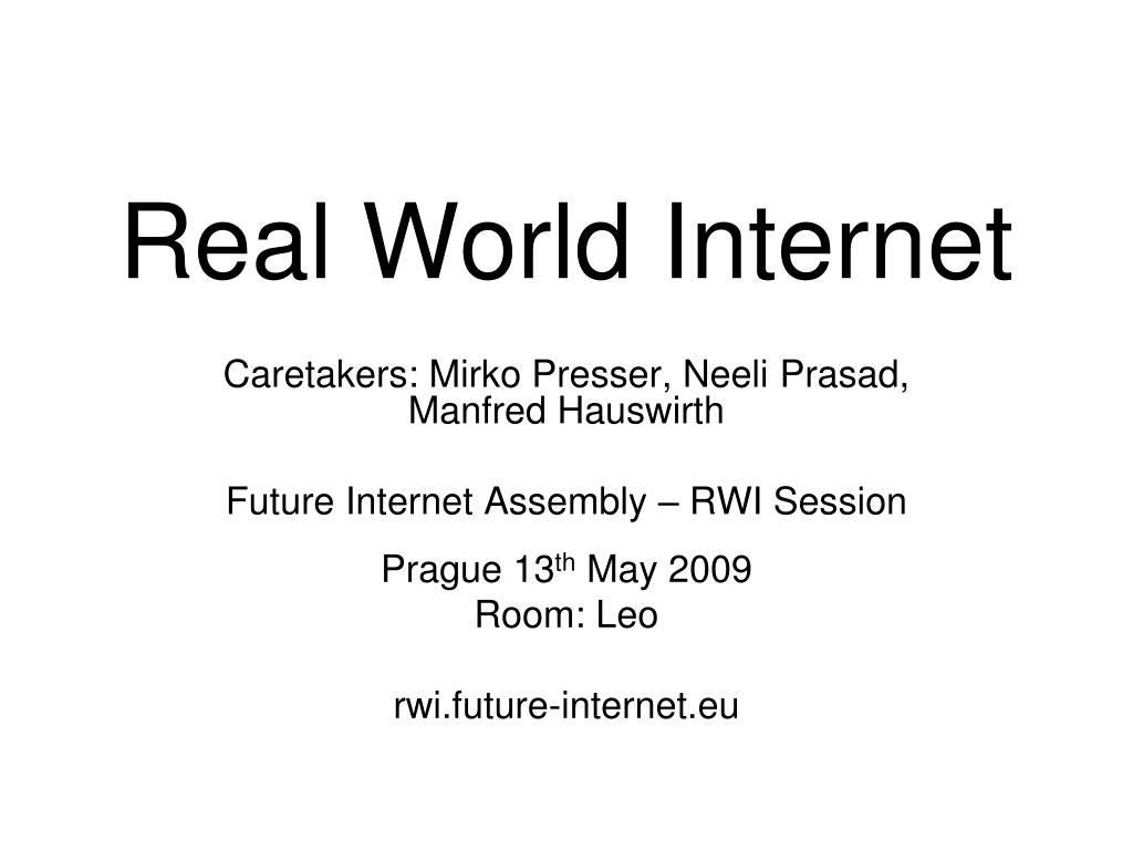 Real World Internet