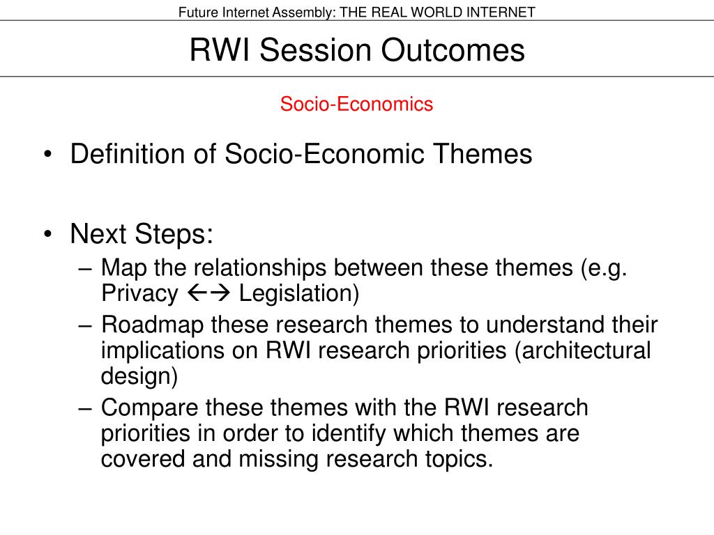 RWI Session Outcomes