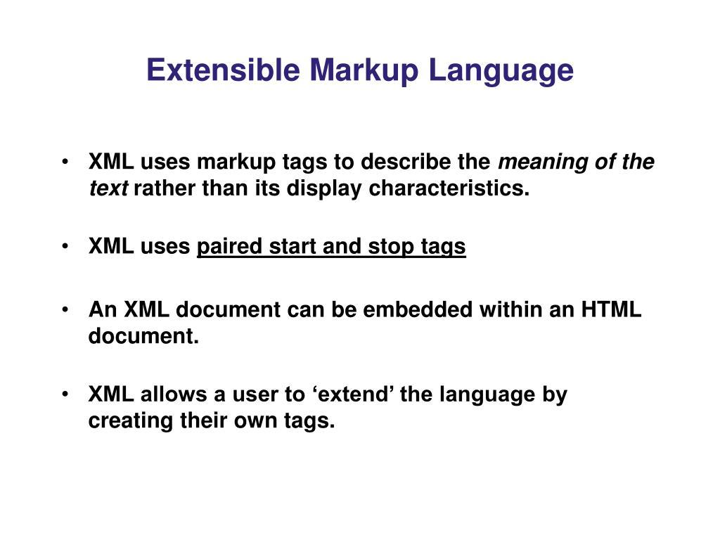 Extensible Markup Language