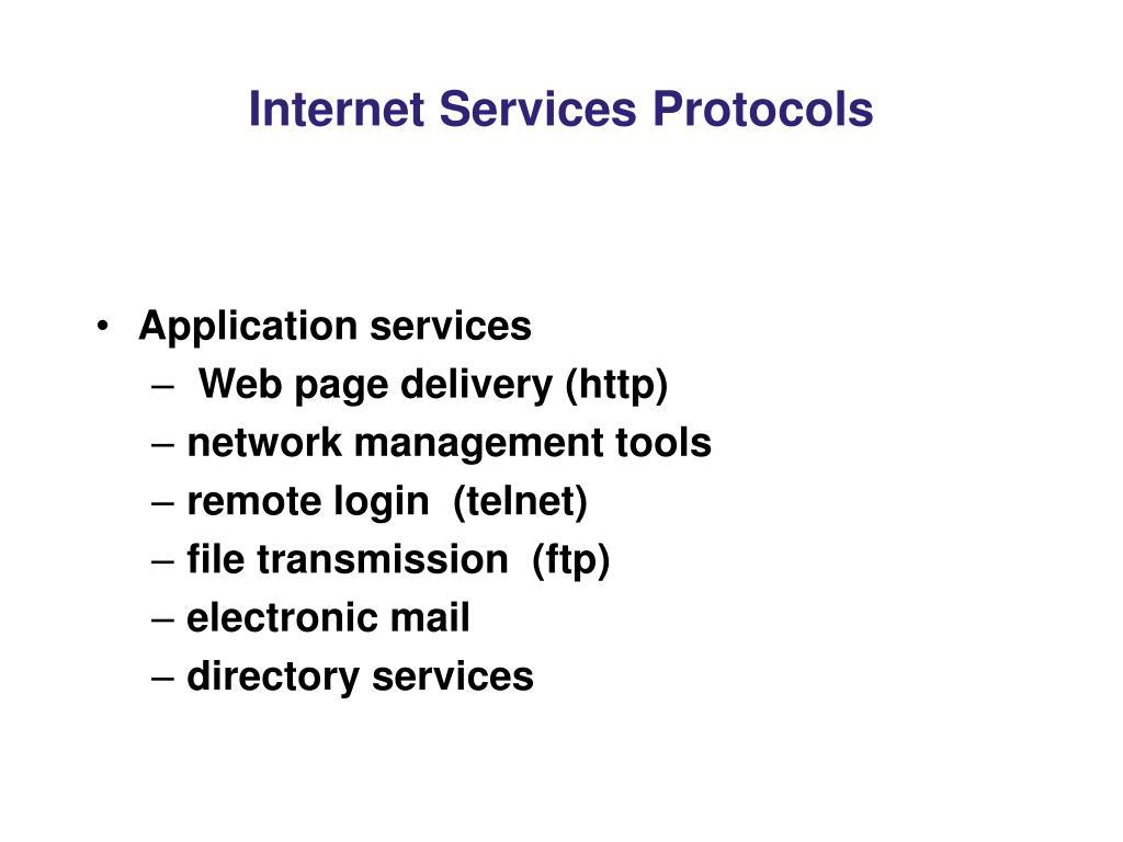 Internet Services Protocols