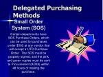 delegated purchasing methods26