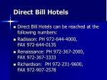 direct bill hotels