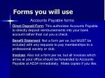 forms you will use51