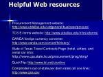 helpful web resources