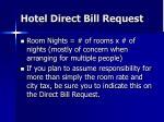 hotel direct bill request