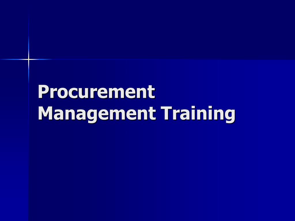 procurement management training l.