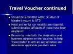 travel voucher continued