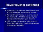travel voucher continued80