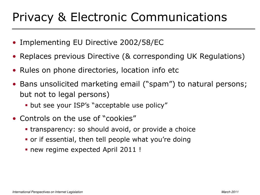 Privacy & Electronic Communications