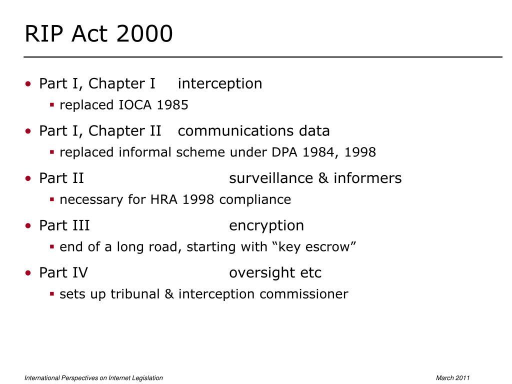 RIP Act 2000