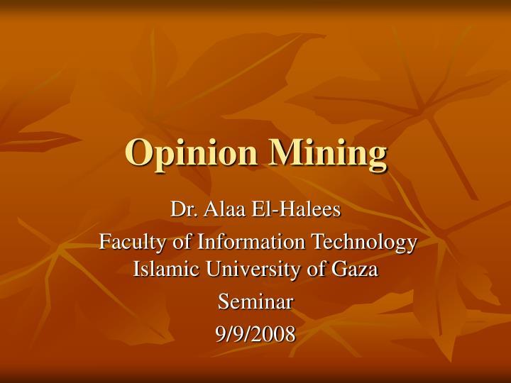 opinion mining n.