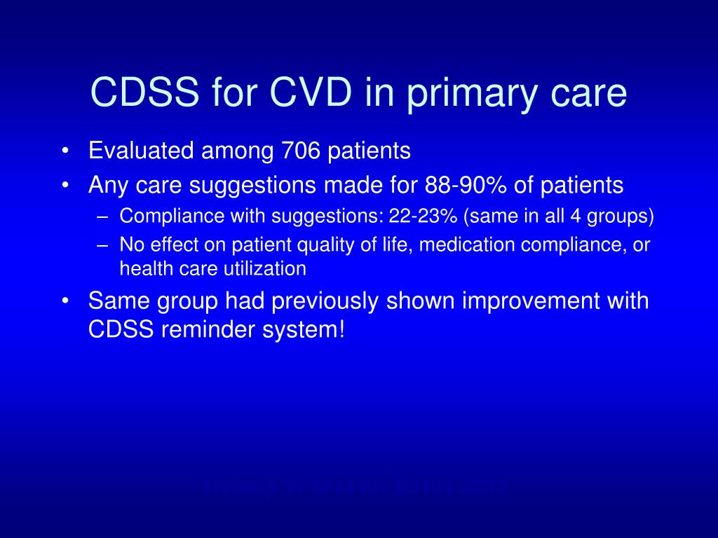 CDSS for CVD in primary care