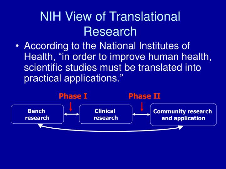 Nih view of translational research