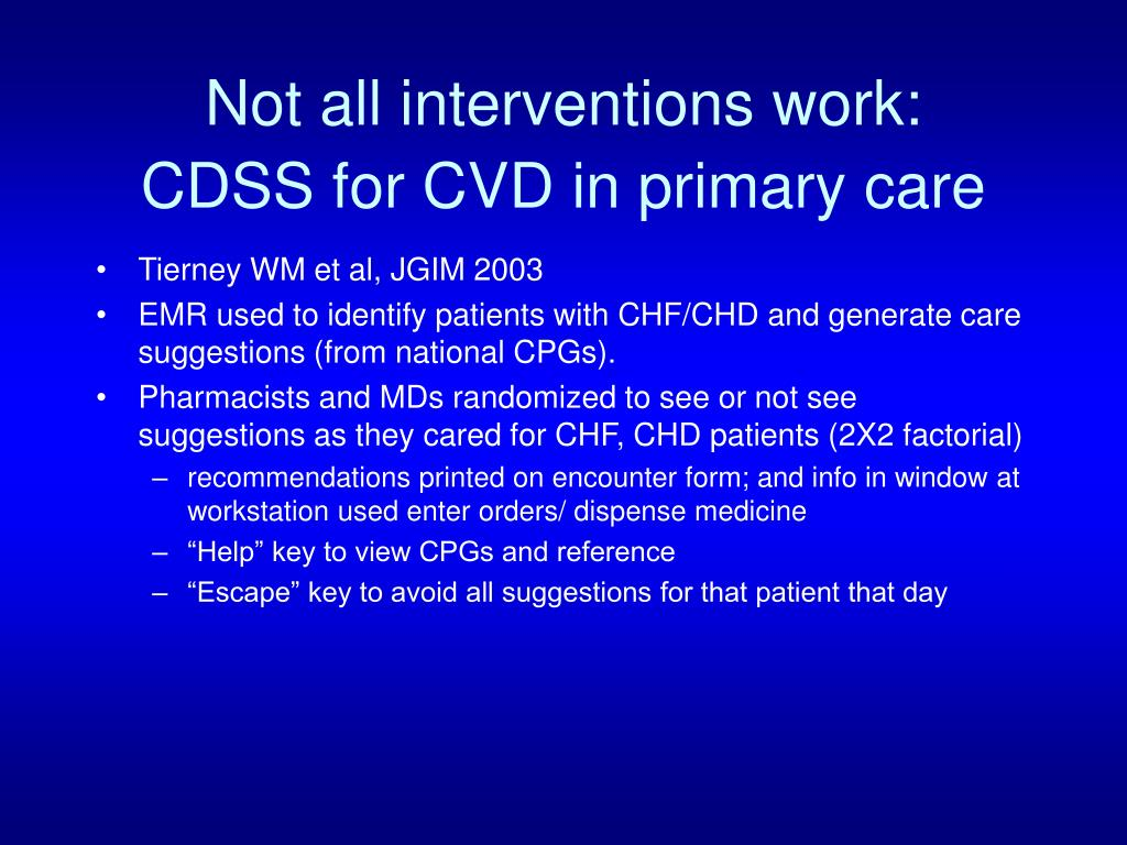Not all interventions work: