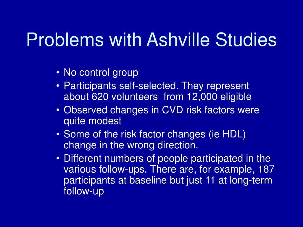 Problems with Ashville Studies
