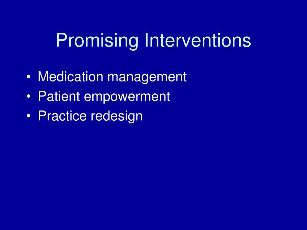 Promising Interventions