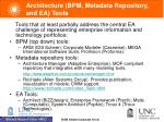 architecture bpm metadata repository and ea tools