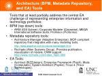 architecture bpm metadata repository and ea tools