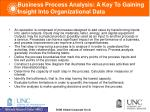 business process analysis a key to gaining insight into organizational data
