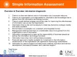 simple information assessment