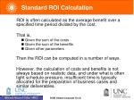 standard roi calculation