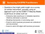 surveying ea bpm practitioners