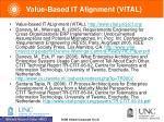 value based it alignment vital