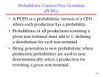 probabilistic context free grammar pcfg