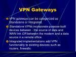 vpn gateways