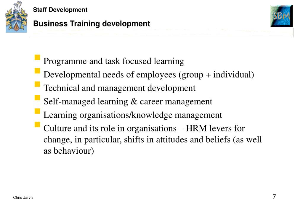 Business Training development