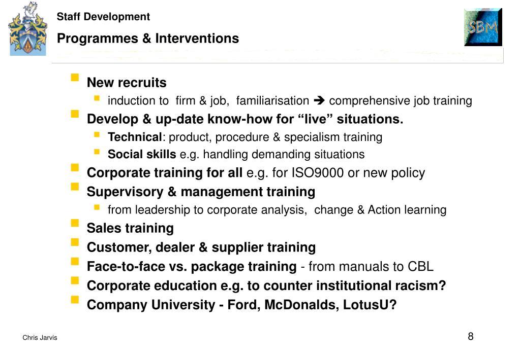 Programmes & Interventions