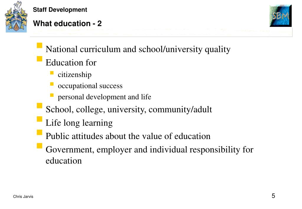 What education - 2