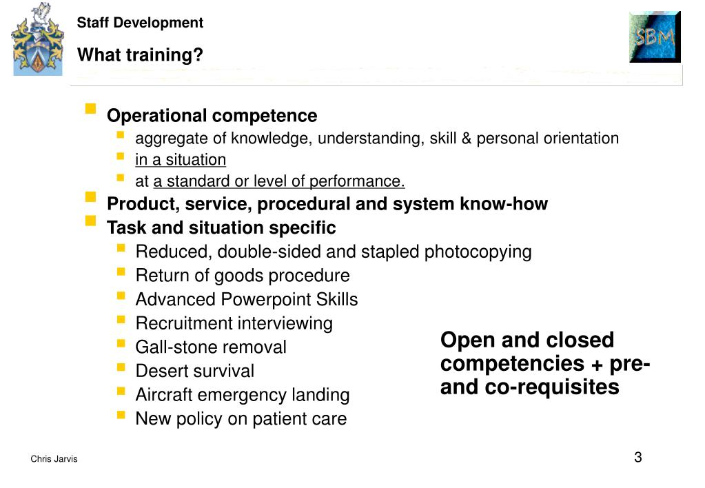 What training?