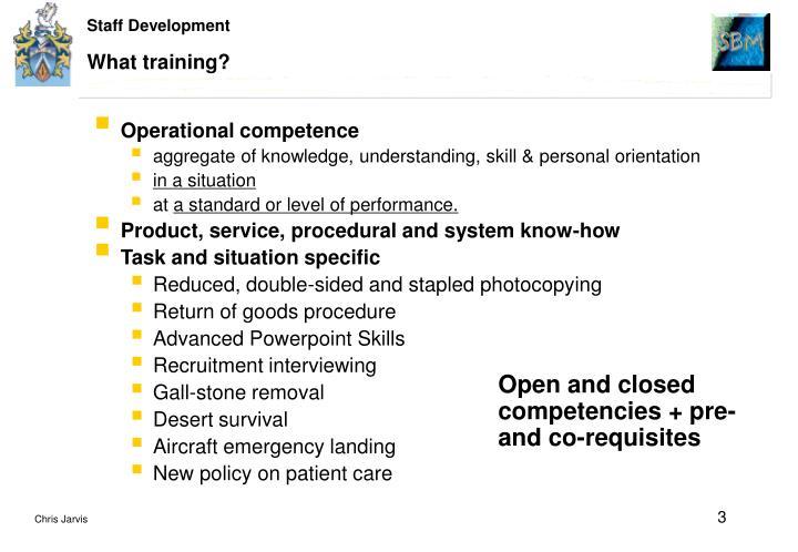 What training