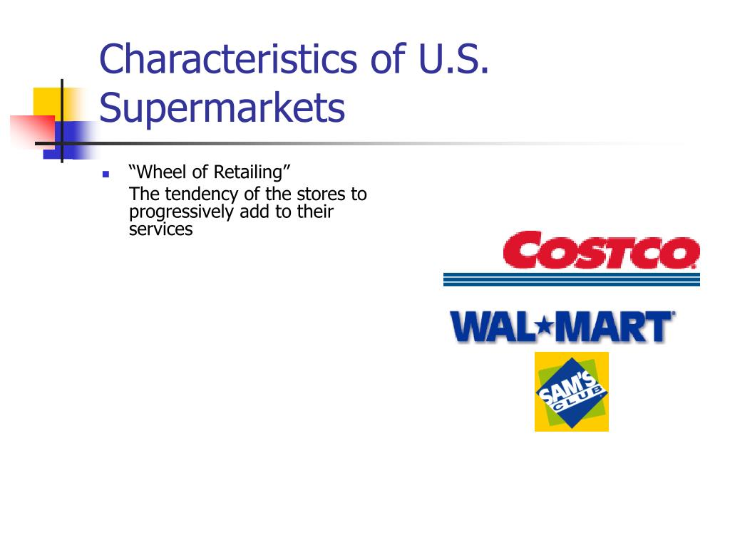 Characteristics of U.S. Supermarkets