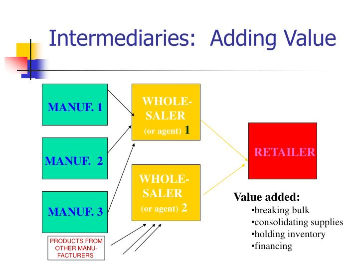 Intermediaries adding value