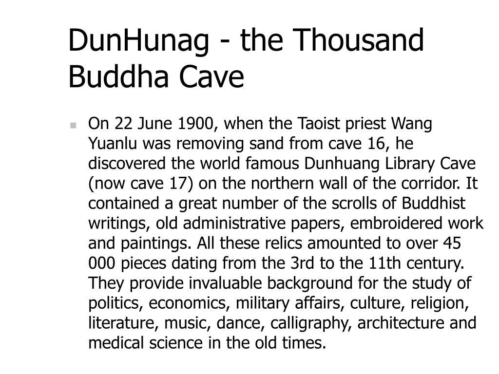 DunHunag - the Thousand Buddha Cave