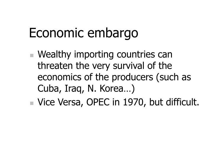 Economic embargo