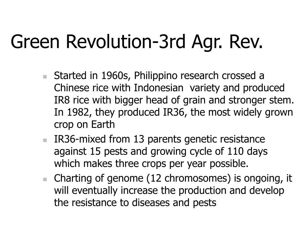 Green Revolution-3rd Agr. Rev.