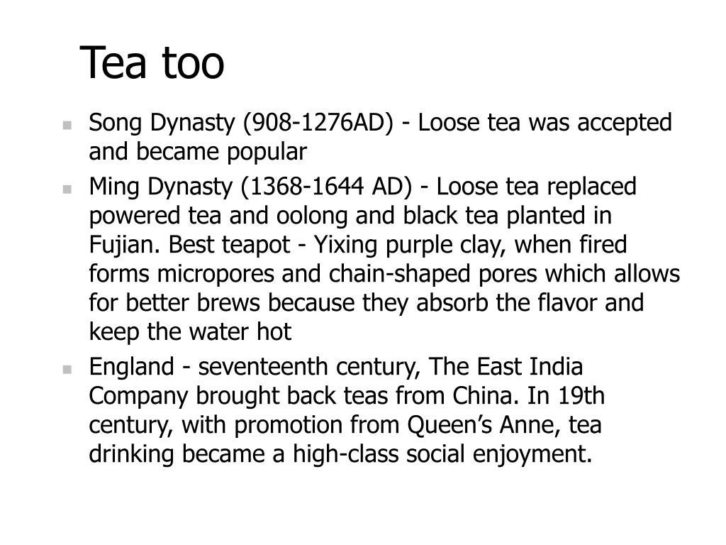 Tea too
