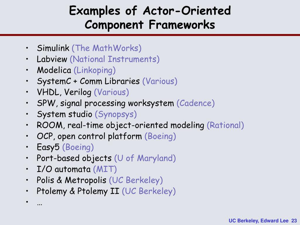 Examples of Actor-Oriented